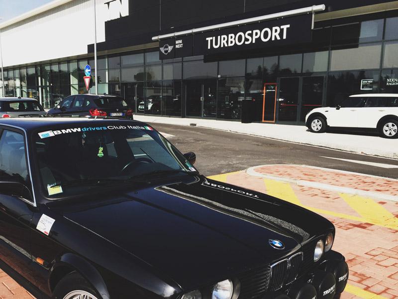 La sede del BMW Drivers Club Italia: la Concessionaria BMW Turbosport di Imola